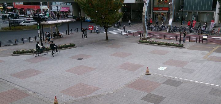 nippori-marche,tokyo,nippori station east exit open space